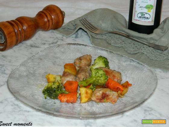 Salsicce e verdure invernali