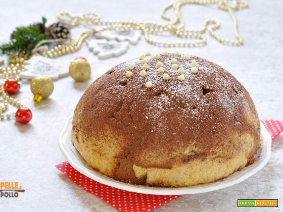 Zuccotto di pandoro alla crema