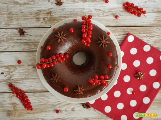 Chiffon Cake al cioccolato con farcitura di crema alla vaniglia