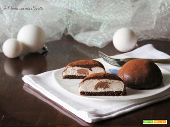 Semisfere al caffè e cioccolato – dolce di Natale