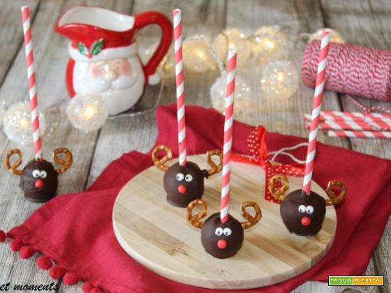 Rudolph cake pops al cioccolato
