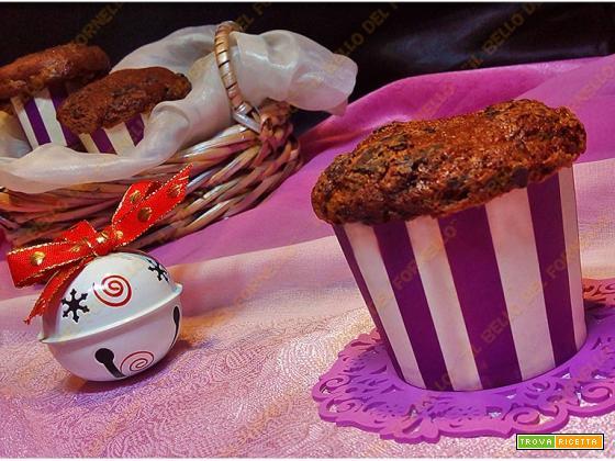 Muffin al torrone e gocce di cioccolato