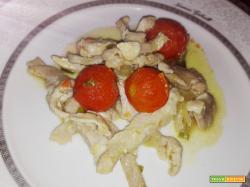Straccetti di maiale con pomodorini