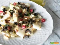 Cavolfiore al forno con uvetta e pinoli