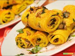 Gurajati Khandvi all'Italiana senza glutine