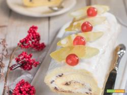 Rotolo cassata – pasta biscotto e crema di ricotta