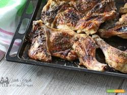 Cosce di pollo aromatizzare e caramellate al miele