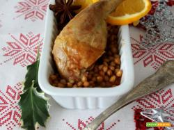 Speciale Capodanno: cosce di faraona marinate all'arancia con lenticchie speziate