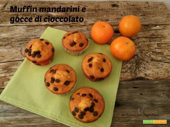 Muffin mandarini e gocce di cioccolato