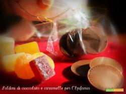 Soldini di cioccolato e caramelle per l'Epifania