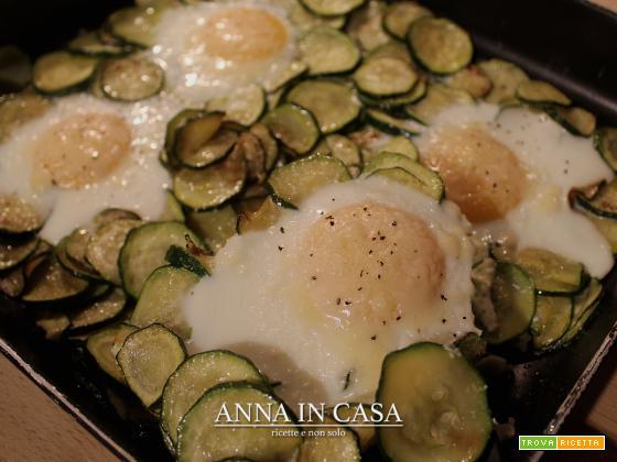 Uova al forno con zucchine
