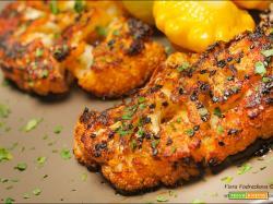 Steak saporito di cavolfiore al forno senza glutine