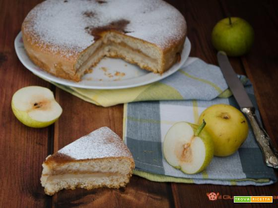 Torta versata con crema di mele