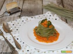 Tagliolini agli spinaci con zucca e broccoli