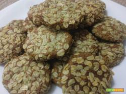 Biscotti integrali vegan con fiocchi d'avena