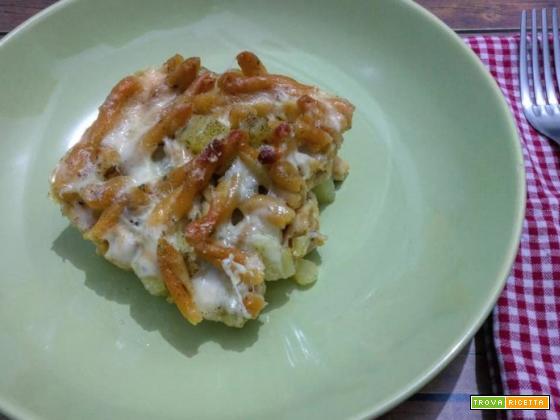 Pasta patate e provola al forno senza precottura, versione senza glutine