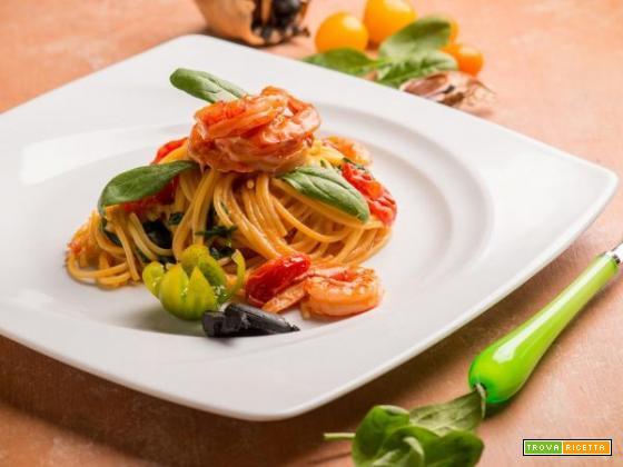 Per un pranzo gustoso ecco gli spaghetti con bisque di gamberi