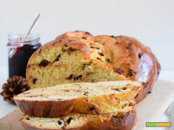 Pan brioche al cioccolato con lievito madre