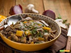 Pizzoccheri ai funghi e peperoni, l'inverno nel piatto…