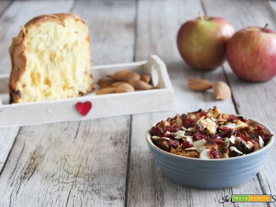 Crumble di mele e panettone