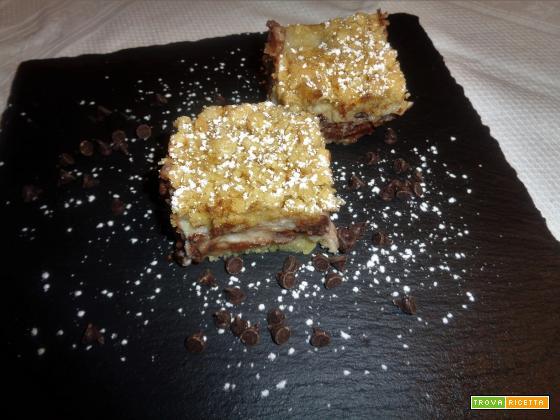 Ricetta – Torta sbriciolona con ricotta e gocce di cioccolato