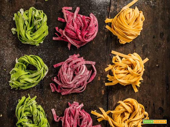 PASTA FRESCA VEGAN COLORATA senza uova | VEGAN COLORED FRESH PASTA