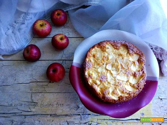 Torta di mele senza glutine latte e burro