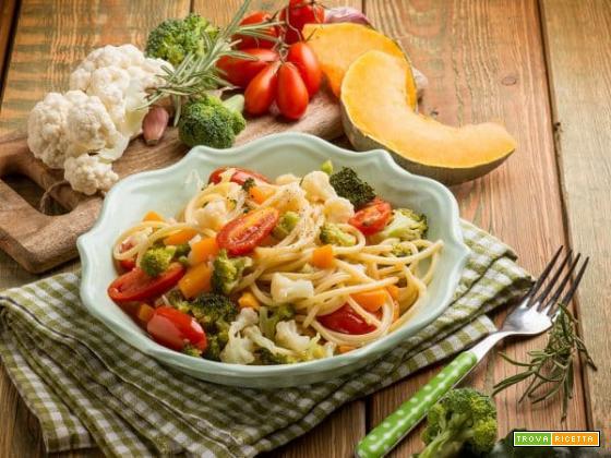 Spaghetti alla chitarra con zucca e broccolo , genuinità al top!