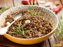 Riso selvatico con lenticchie ed erbe aromatiche, per palati ghiotti!