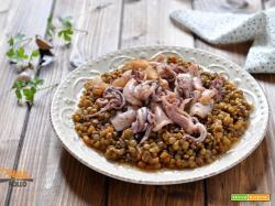 Zuppetta di calamari e lenticchie