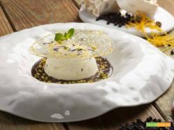 Dessert:  semifreddo al torrone con salsa al cioccolato speziato