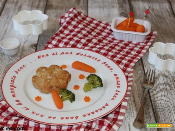 Hamburger di pollo e prosciutto cotto
