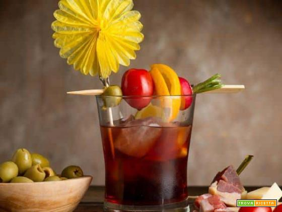 Il cocktail Americano , italiano al 100%