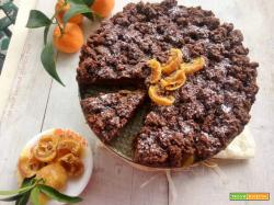 Sbrisolona cacao e mandarini senza burro e senza glutine