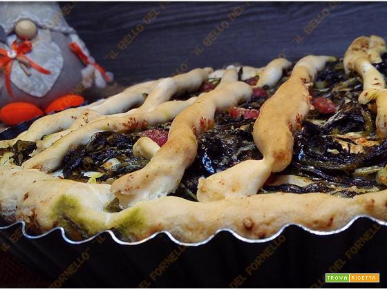 Crostata di verdura con impasto per pizza