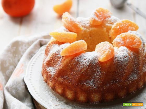 Ciambella al succo di mandarino, senza zucchero, glutine e lattosio