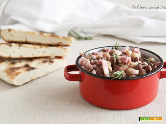 Fagioli e ceci con pancetta – tradizione umbra