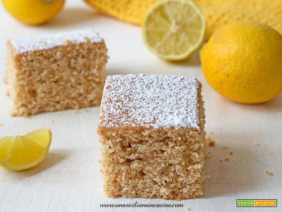 Torta integrale al limone morbida