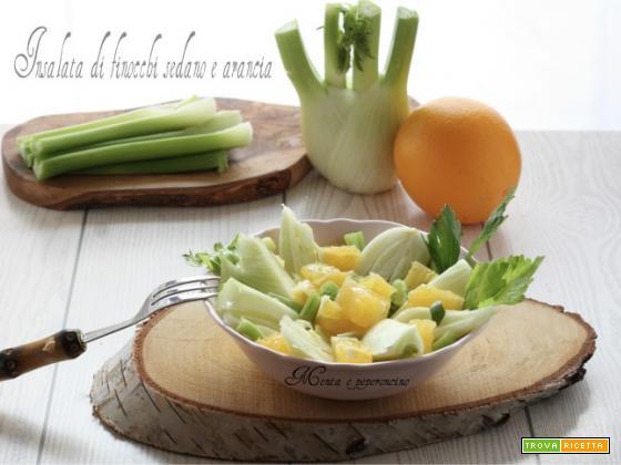Insalata di finocchi sedano e arancia