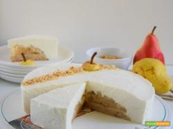 Mousse cake alle pere e nocciole