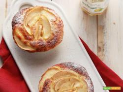 Tortine di mele alle mandorle con cuore morbido al limone