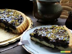 Crostata al cioccolato pere e pistacchi
