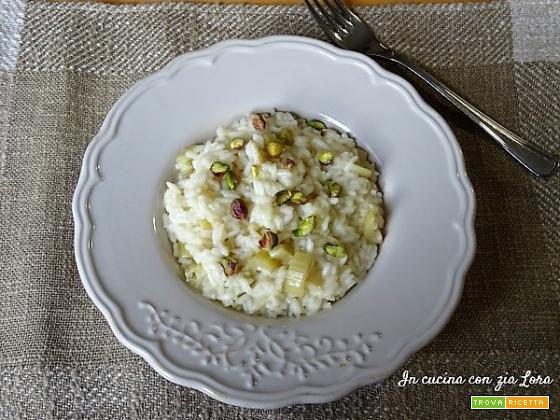 Risotto con cardo e pistacchi