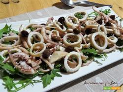Insalata di totani e olive taggiasche
