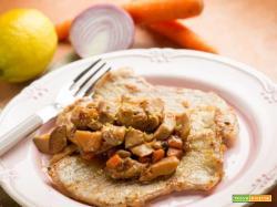 Scaloppine ai funghi, cipolle e carote, sapori d'inverno!