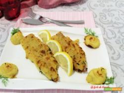 Filetti di nasello gratinati con le patate