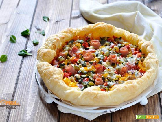 Torta salata con verdure semplice e veloce