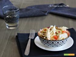 Trofie al baccalà e olive