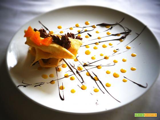 Carnevale in arrivo, Vegan frappe con mousse di cioccolato e arancio!!!