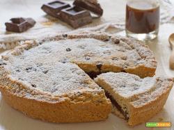 Crostata integrale crema nocciole e cacao